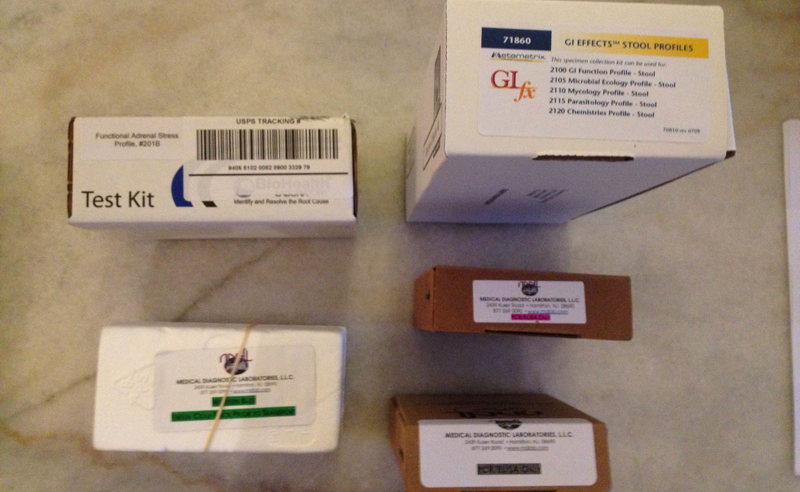 Stool and saliva test kits