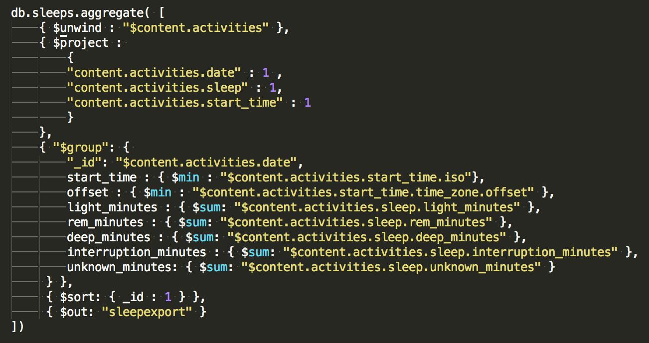 MongoDB sleep aggregation query